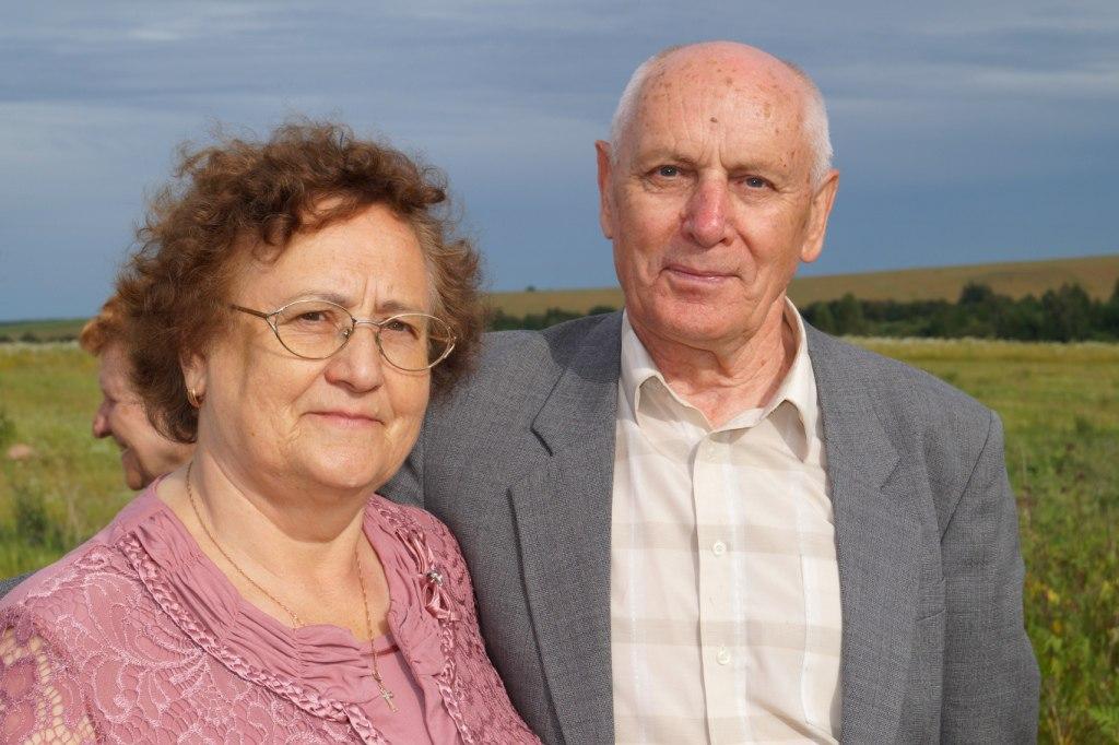 Клавдия Александровна Булат с мужем Вячеславом Николаевичем
